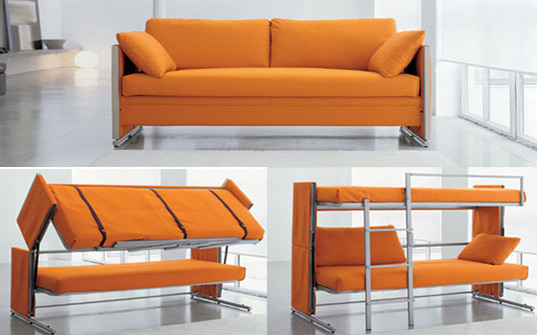Compact sofa bunk bed bonbon tradingu0027s got compact down pat with their doc sofa/bunk bed unit. fpglbvz