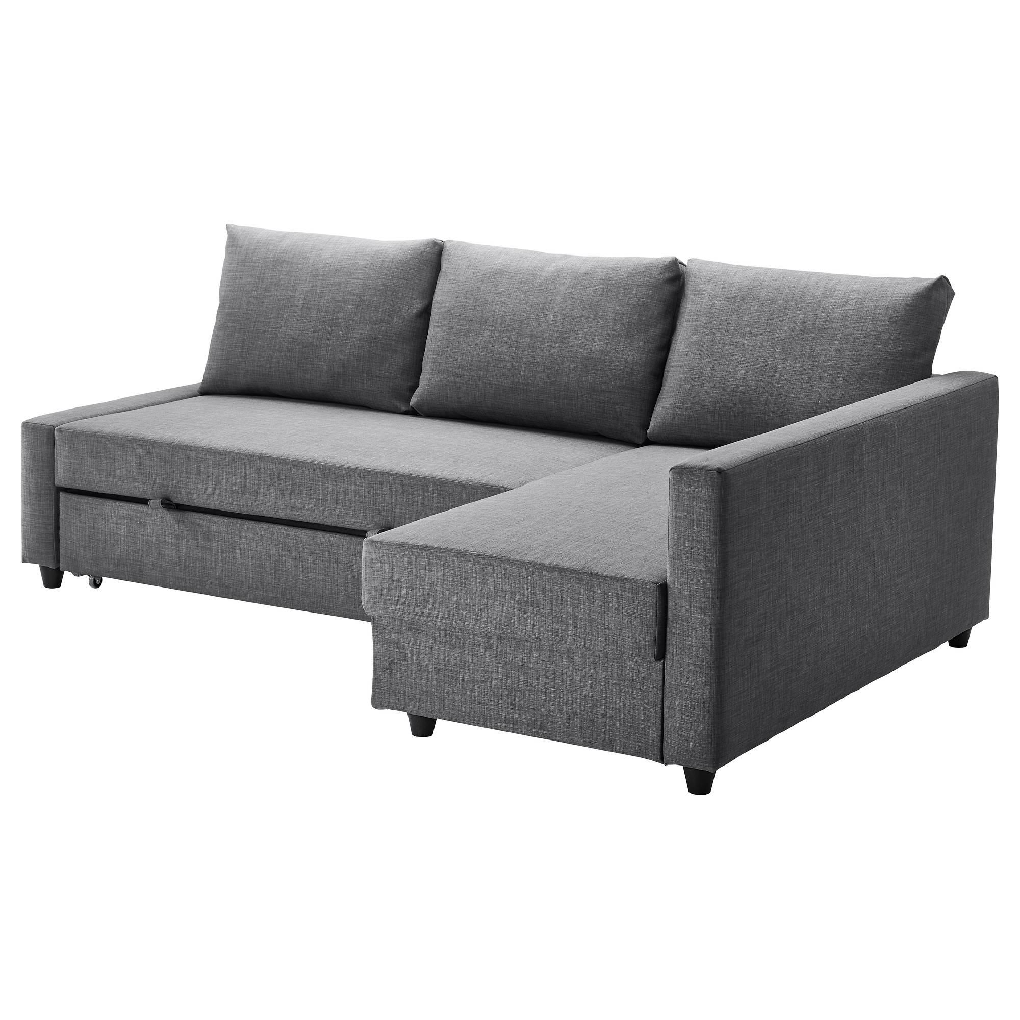 Compact sofa sleeper friheten sleeper sectional,3 seat w/storage - skiftebo dark gray - ikea iduvitz