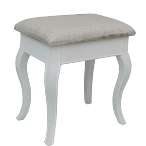 Compact upholstered dressing table stool vjwghjy