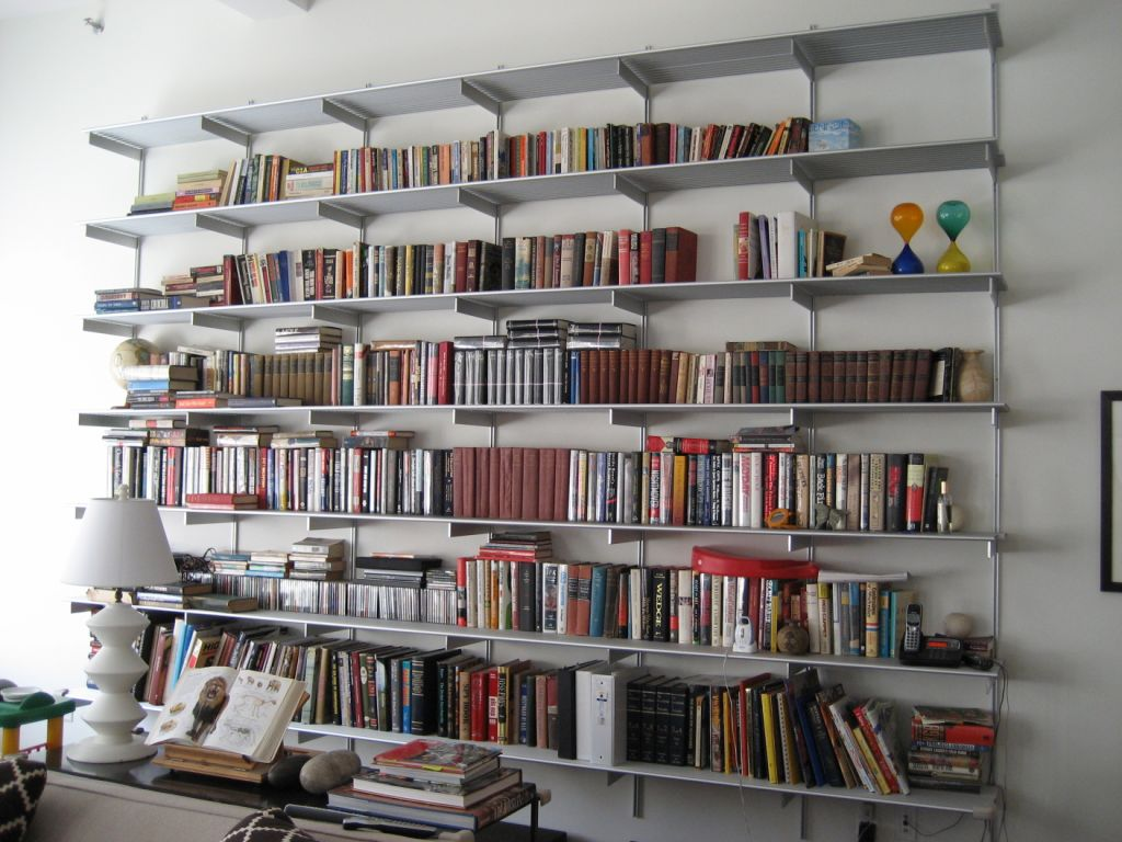 Compact wall mounted bookshelves made from recycled things home design tgldxsm
