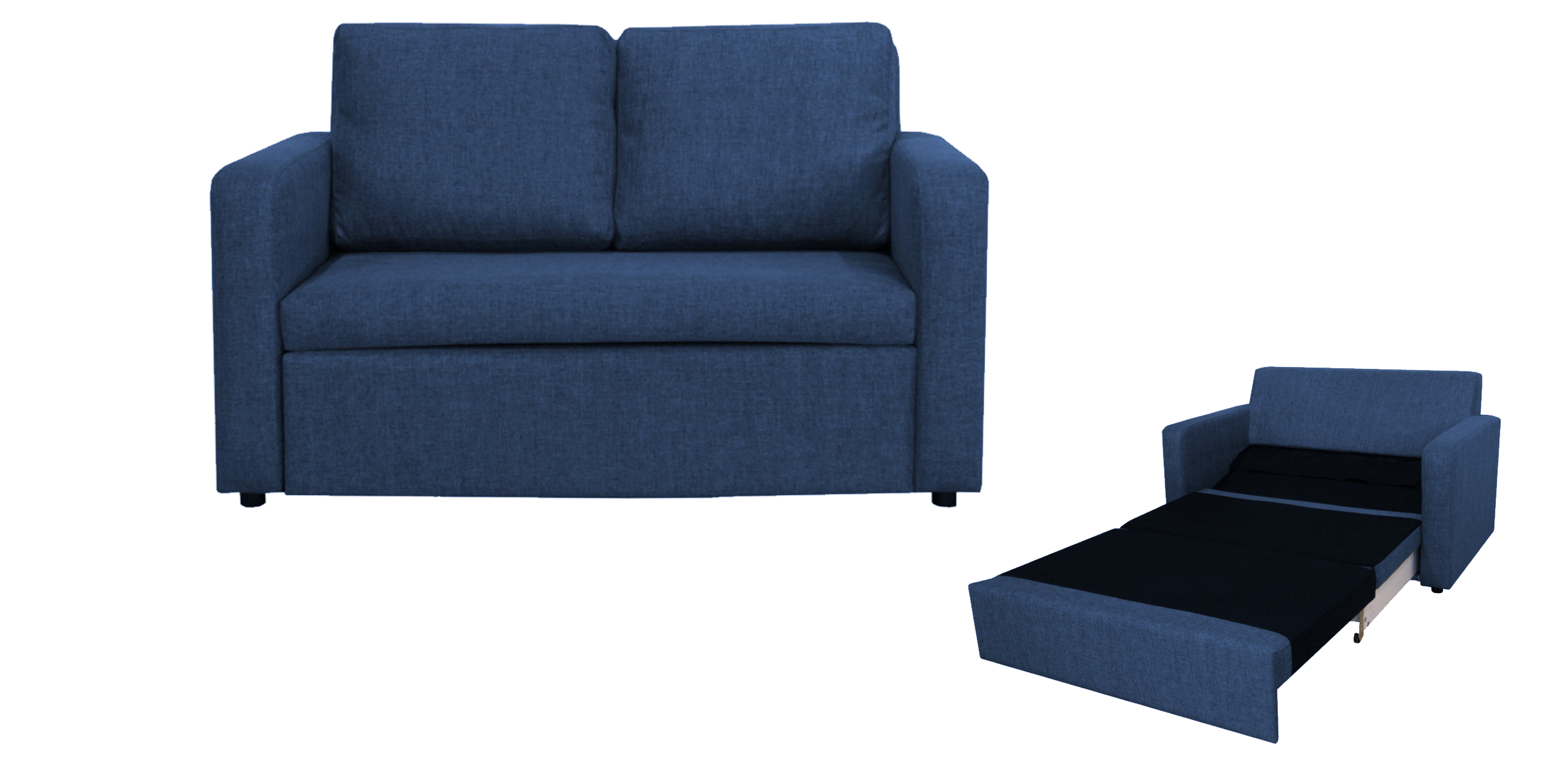How to decorate a small room with a 2 seater sofa bed