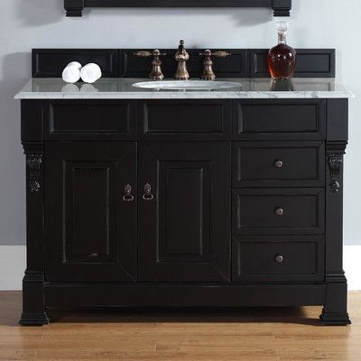 Concept black bathroom vanity james martin furniture brookfield 48 lsyfkim
