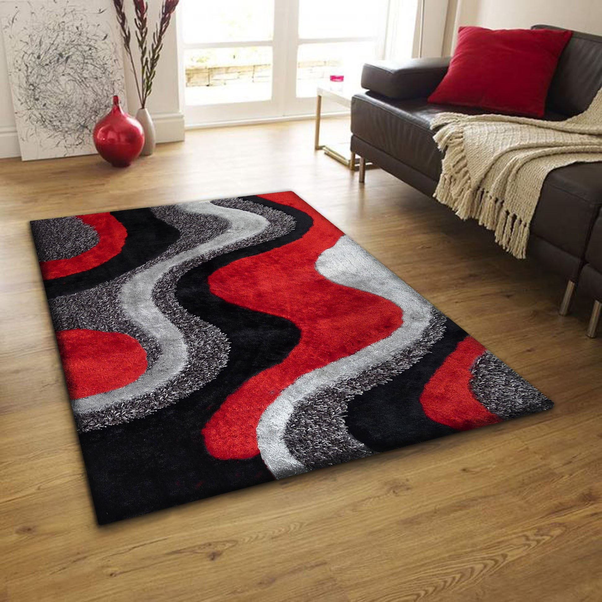 Concept red and grey rugs area rug for living room bedroom throw rugs zgdavou