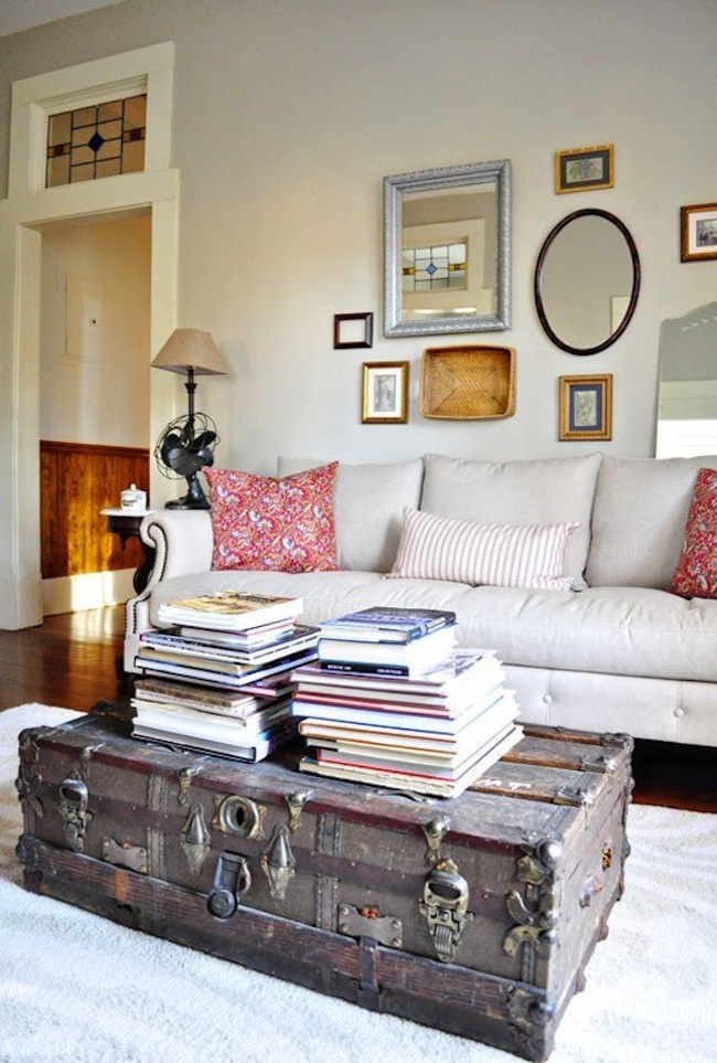 Concept view in gallery old trunk coffee table brings some rustic charm to a meqfqgy