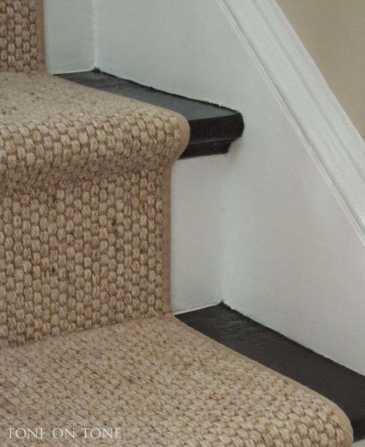 Contemporary carpet for stairs tone on tone: i chose a wool sisal style staircase runner with very ulprood