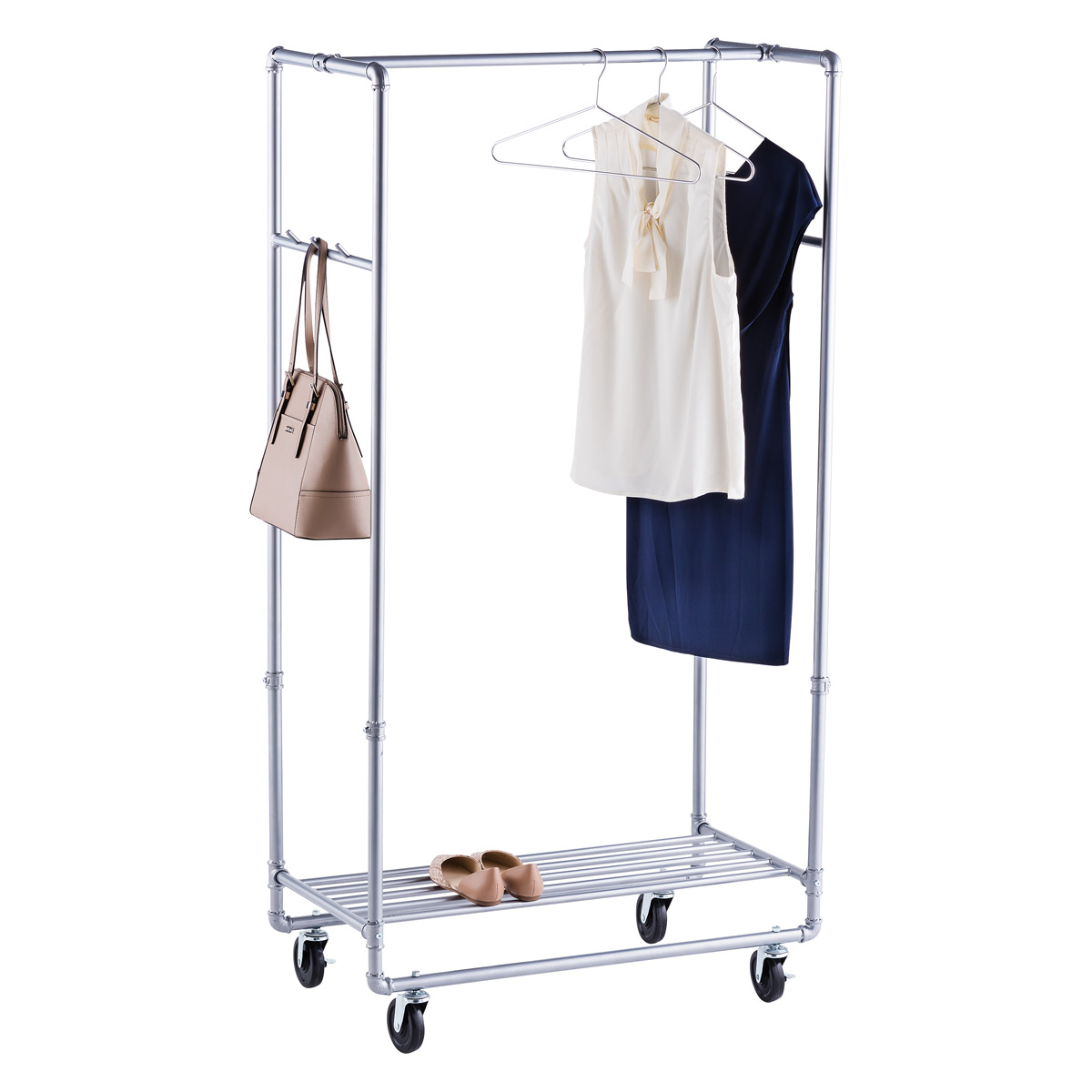Contemporary clothes rack industrial pipe garment rack ulchxxz