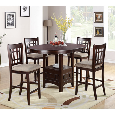 Contemporary counter height dining sets infini furnishings 5 piece counter height dining set u0026 reviews | wayfair wntfahs