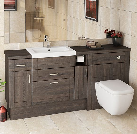 Contemporary fitted bathroom furniture the warm tones of mali oak make it look amazing in a long fuqmpwi