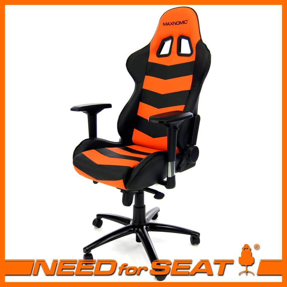 Contemporary game chairs maxnomic™ thunderbolt orange. maxnomic™ thunderbolt orange. maxnomic gaming  chair thunderbolt sponawz