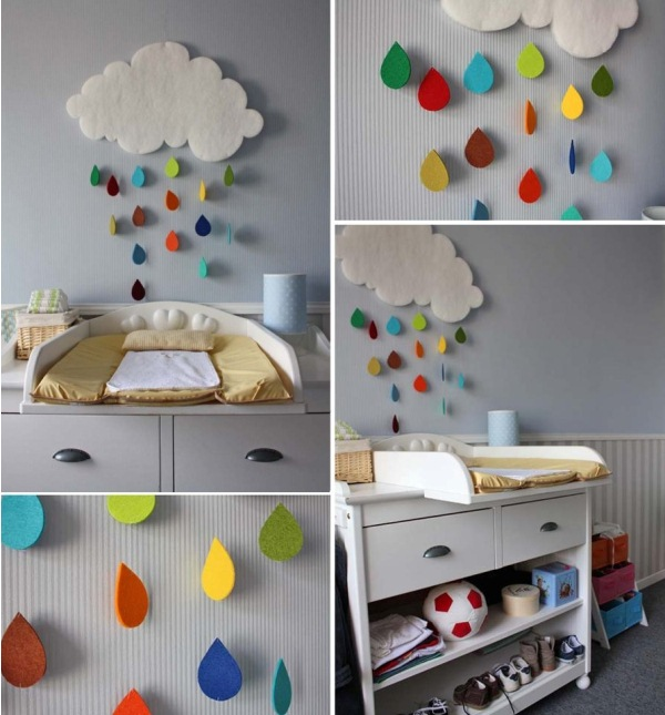 Contemporary gorgeous rain cloud mobile baby room decor fwduuyr