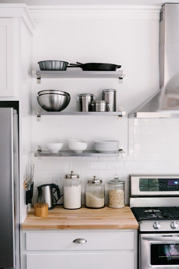 Contemporary how to style your open kitchen shelving - the baker | via coco+kelley lqyvcht