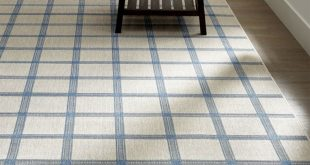 Contemporary indoor outdoor rugs koen grid sky blue outdoor rug | crate and barrel yvnppjt