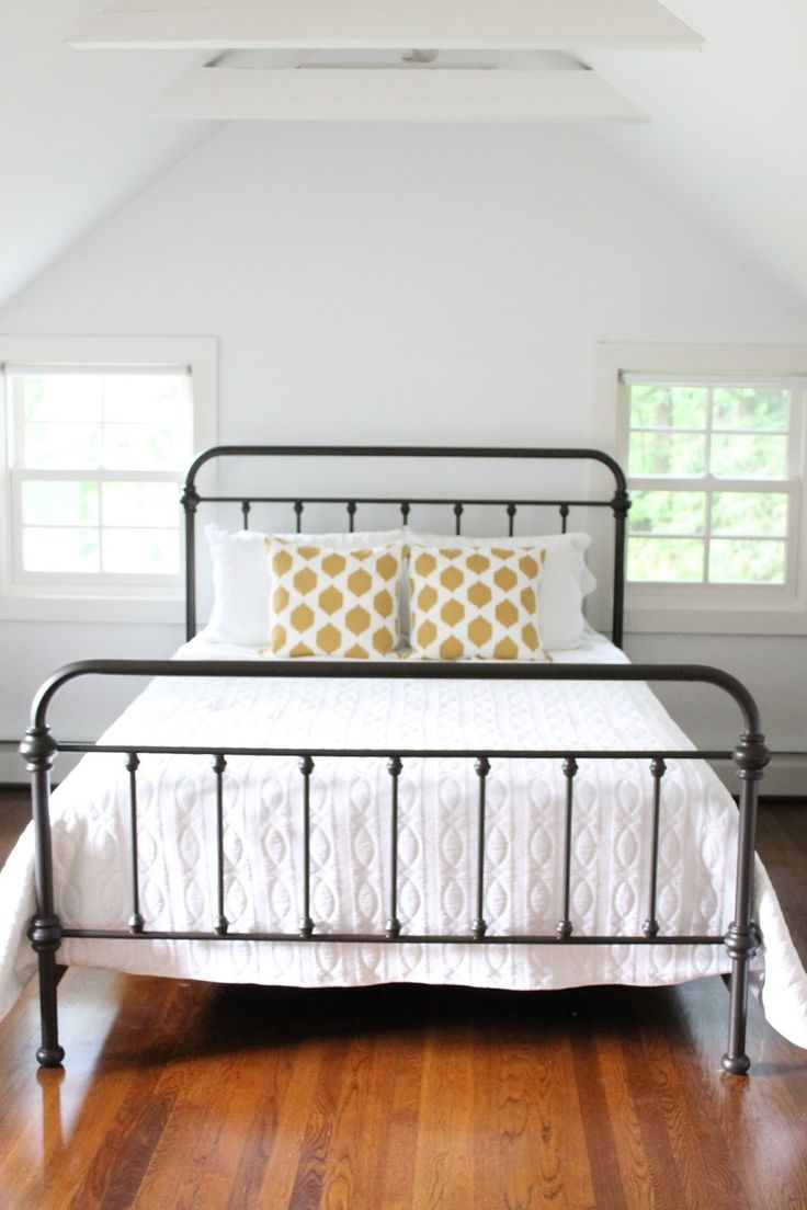 Contemporary iron bed frames iron bed- iu0027m debating painting mine a different color than brown. nqnacye