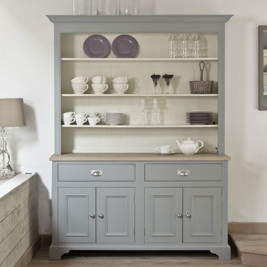 Enhance the décor and the storage space of your kitchen by installing a kitchen dresser