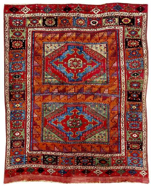 Contemporary oriental rugs | turkish rugs: christopher alexanderu0027s two panel holbein rug scnhlck