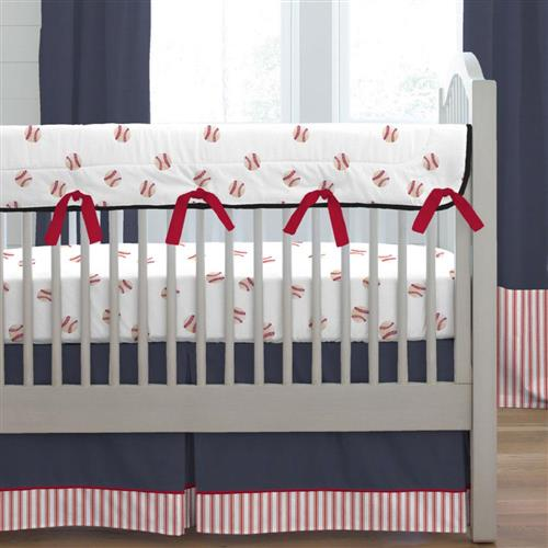 Cool baby boy bedding sets ... red and navy baseball crib bedding qvzwnjp
