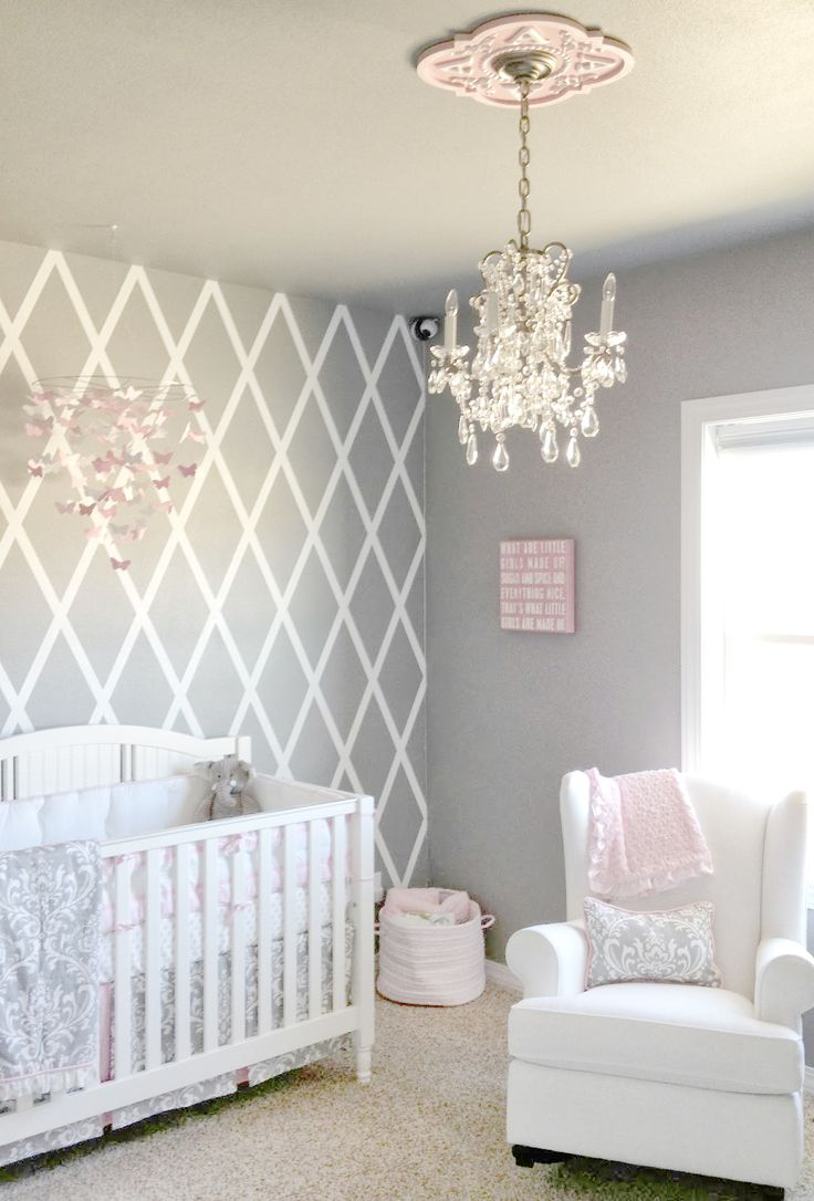 Cool baby girl nursery ideas dream little girls room beautiful gray and pink nursery features our stella htjwbfz