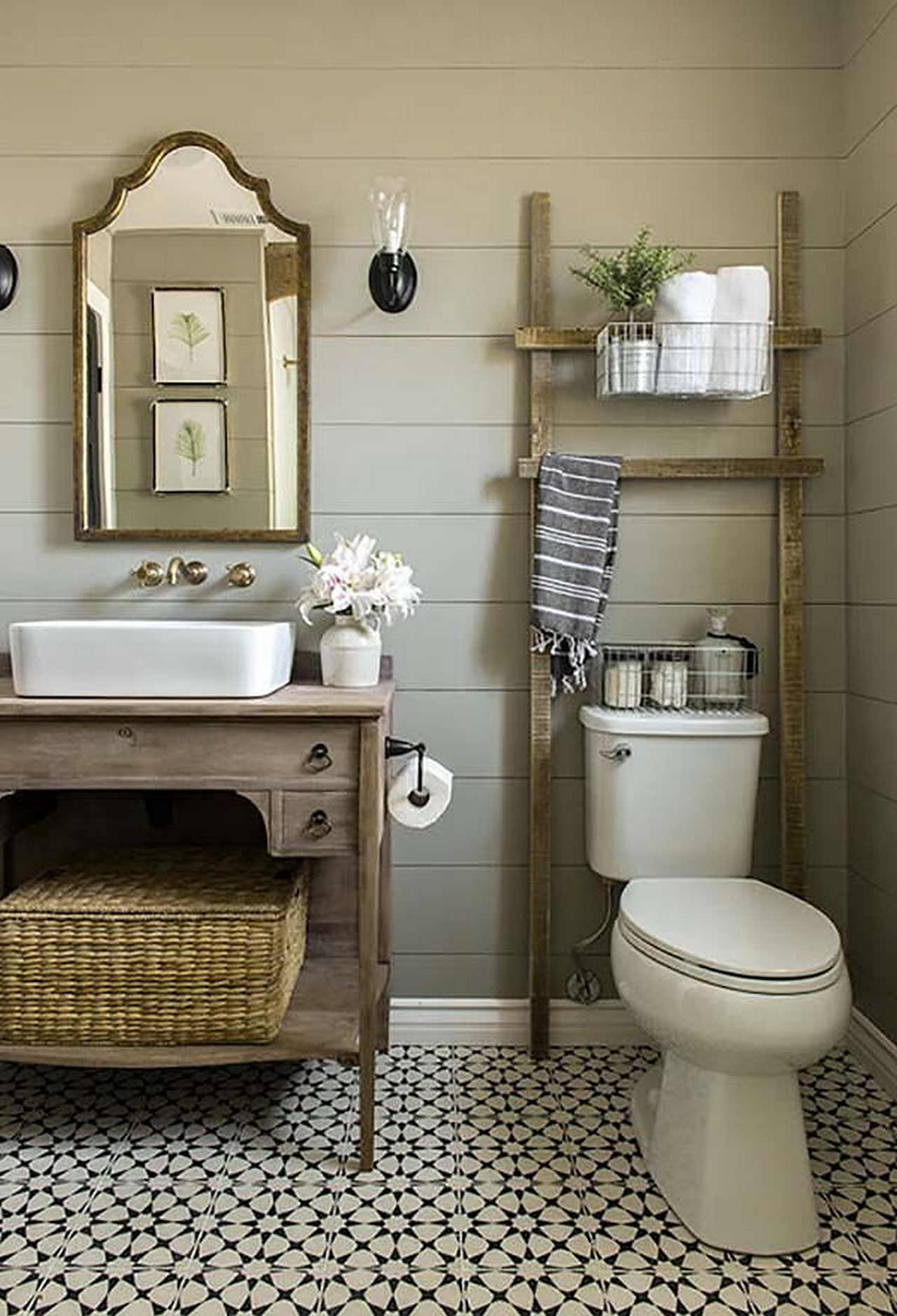 Cool bathroom decor 1. the golden blend of modern and rustic uwwnogp