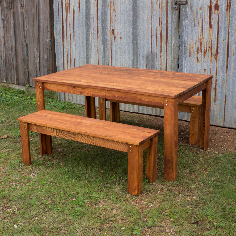 Cool carencro style outdoor table w benches ohadwpo