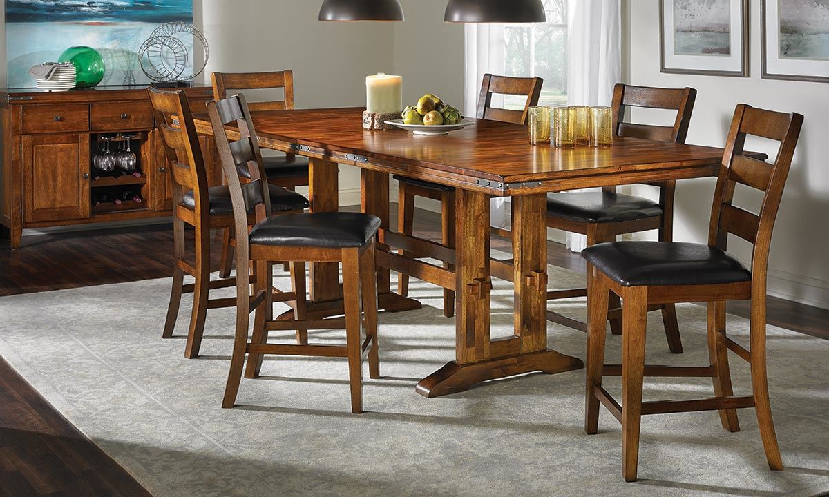 Cool counter height dining table picture of iron strap counter height dining set puubaal