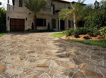 Cool flagstone pavers ... textures and patterns that mimic actual flagstone. all of these  elements zqqaabt