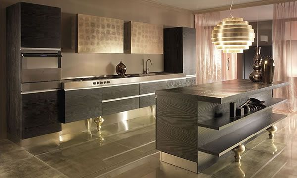 Modern kitchen design for the apartment