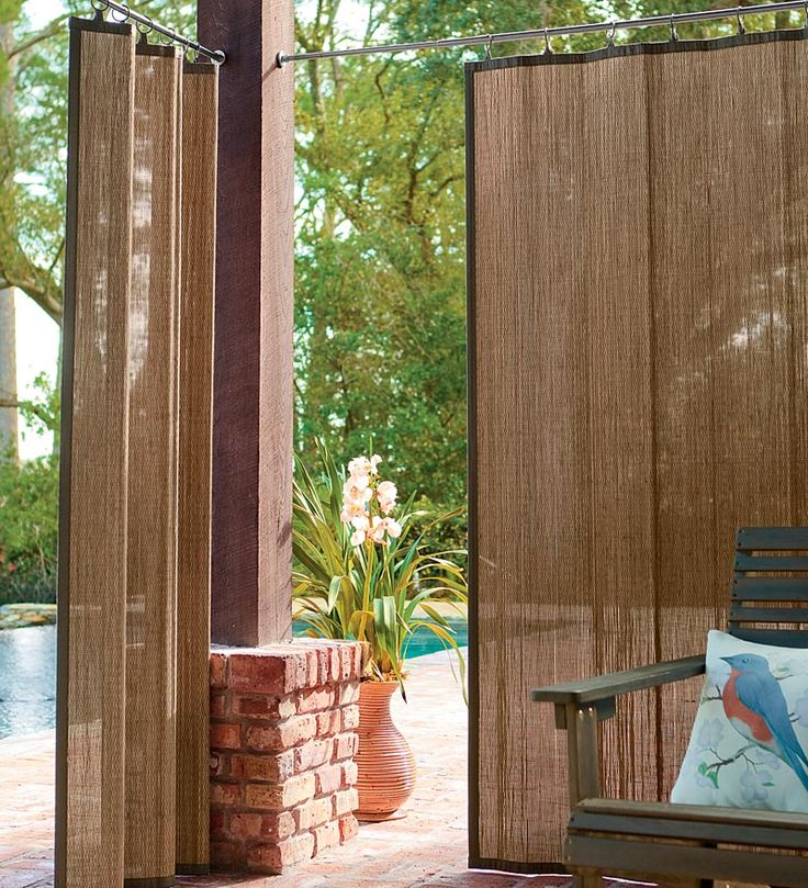 Cool outdoor curtains great for outdoor shower space: water resistant outdoor bamboo curtain  panels in yvsjndf