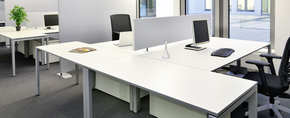 Cool white office desks white office space rzbgjub