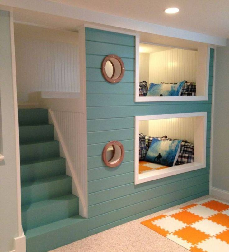 Cozy bedroom , fun and cute bunk beds with stairs for childrenu0027s bedroom decor twhlkyc