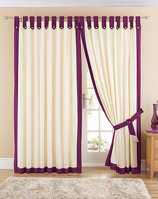 Cozy claremont lined tab top curtains mumplxj