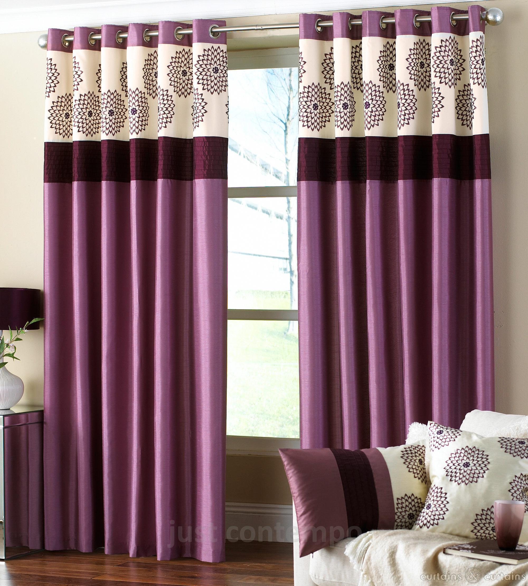 Cozy designer curtains purple modern curtain design for living room iqkakhb