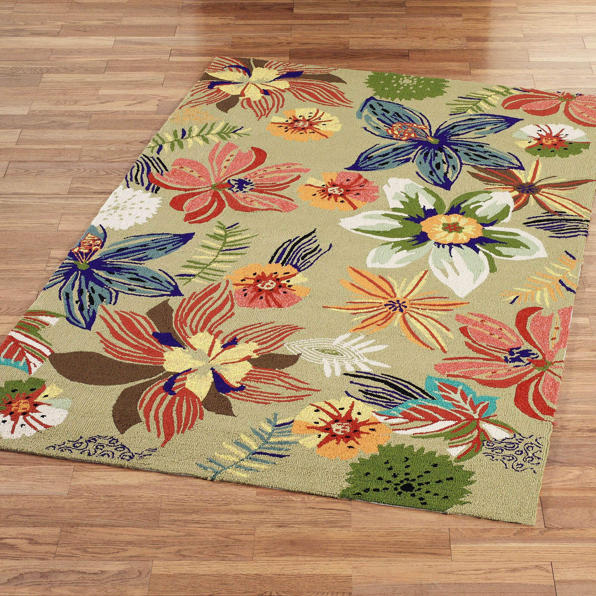Cozy four seasons tropical floral indoor outdoor rugs oukpmdi