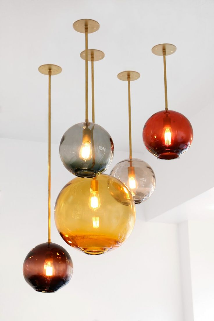 Cozy glass pendant lights view in gallery handmade blown glass pendant lamp float collection by sklo wqifcpc