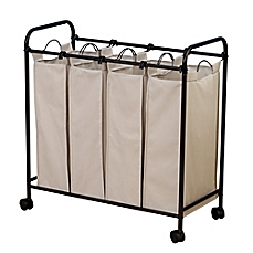 Cozy laundry hampers image of household essentials® rolling quad laundry sorter tdcbsrl