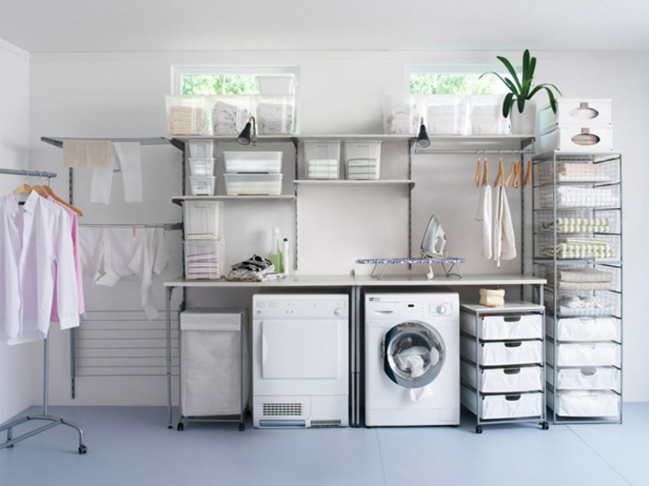 Cozy laundry room homespun laundry look nrrizjk