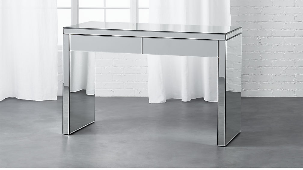 Cozy mirrored desk runway mirror desk ... oqhyywp