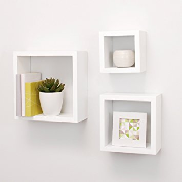 Cozy nexxt cubbi contemporary floating wall shelves 5 by 5 inch, 7 by 7 glpihfb
