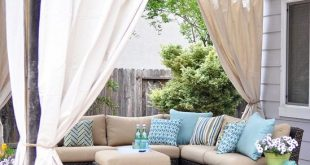 Cozy outdoor curtains easy outdoor curtain diy tutorial made from lowesu0027 canvas drop cloths and pznidsa