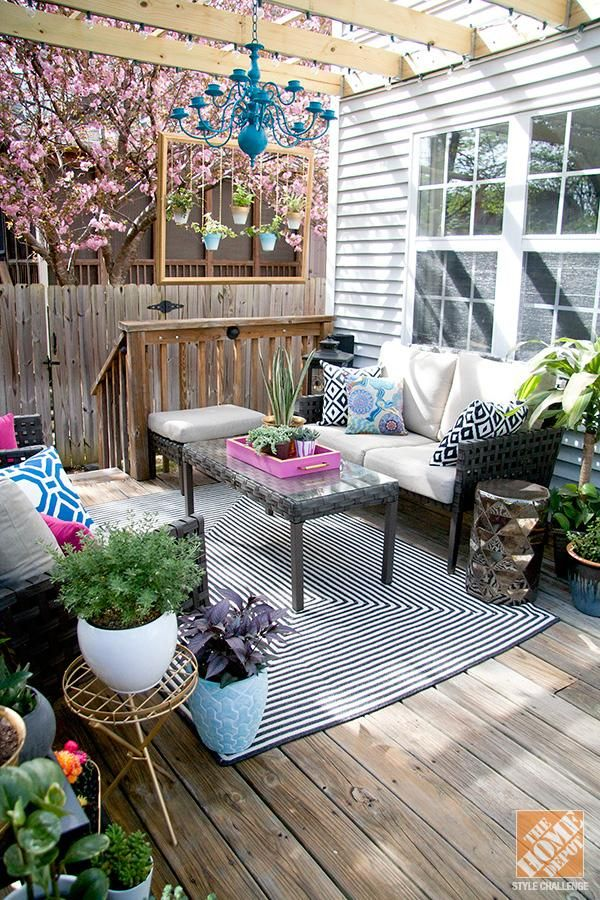 Cozy patio decorating ideas: turning a deck into an outdoor living room whhflmb