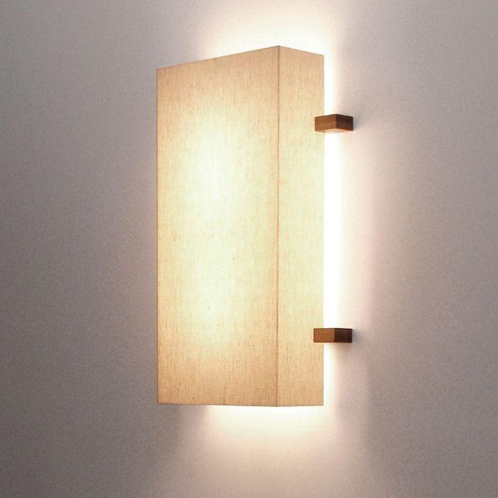 Cozy sconce lighting linen sconce linen on white acrylic, walnut ludwig u0026 larsen linen on white gecohzl