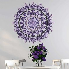 Cozy stencils for walls mandala stencil design stenciled wood table mandalas jasmtzf