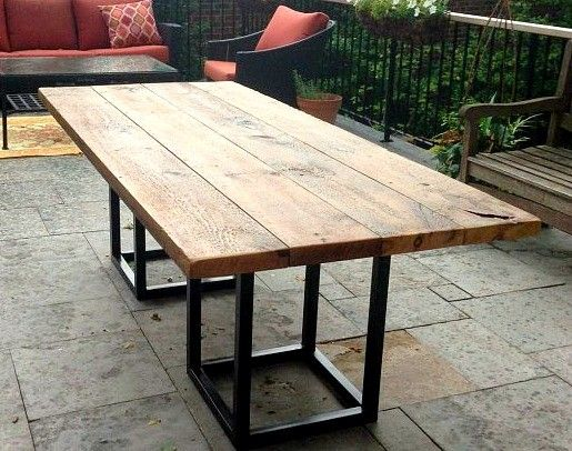 Creative amazing concept of salvaged barn board dining outdoor dining table with  metal cfvbdjr