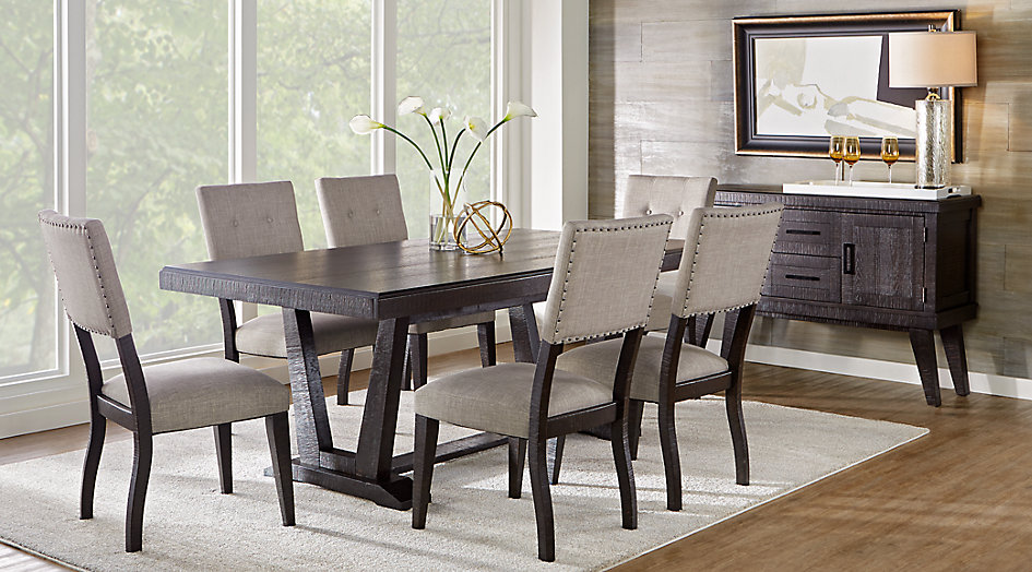 Creative dining room sets hill creek black 5 pc rectangle dining room thyfqne