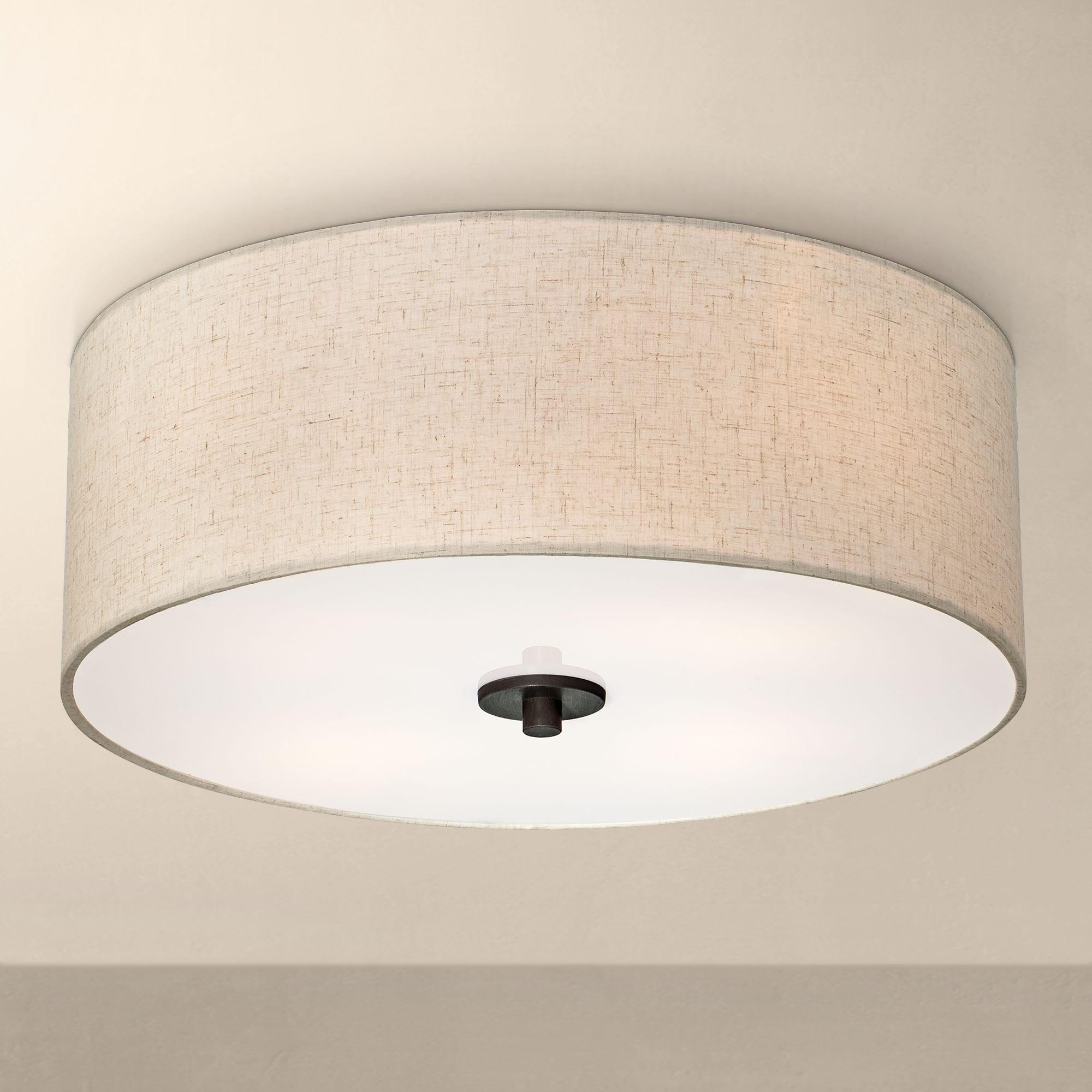Creative flush mount ceiling light bronze with off white shade 18 ppxzalu
