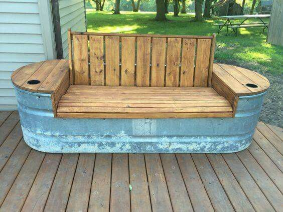 Creative garden benches add some hinges so the seat comes up u0026 make it into a dtsollx