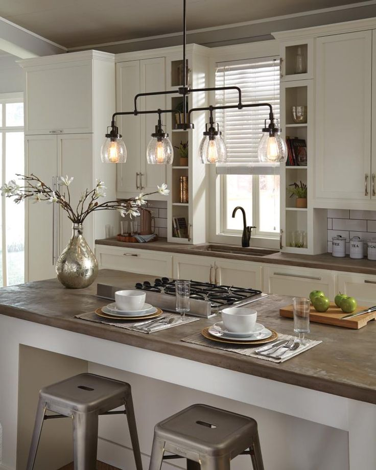 Creative kitchen island lighting influenced by the vintage industrial designs of early century america, the  transitional qjidefr