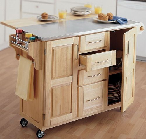 Creative rolling kitchen island fascinating wooden kitchen island utility cart with tiny wheel stainless  steel combined ruquqla