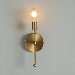 Creative sconce lighting bautista 1-light glam steel wallchiere wkckxbi