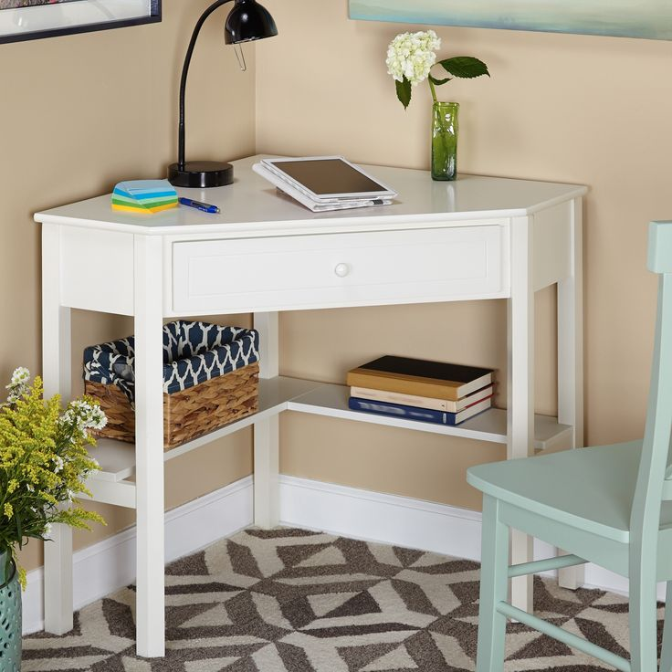Creative small corner desk make the most of your square footage with this white wood corner computer keqcwte
