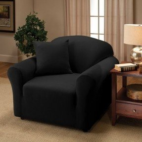Creative sofa chair black jersey loveseat stretch slipcover, sofa, chair, recliner, couch cover  love seat vyiletr